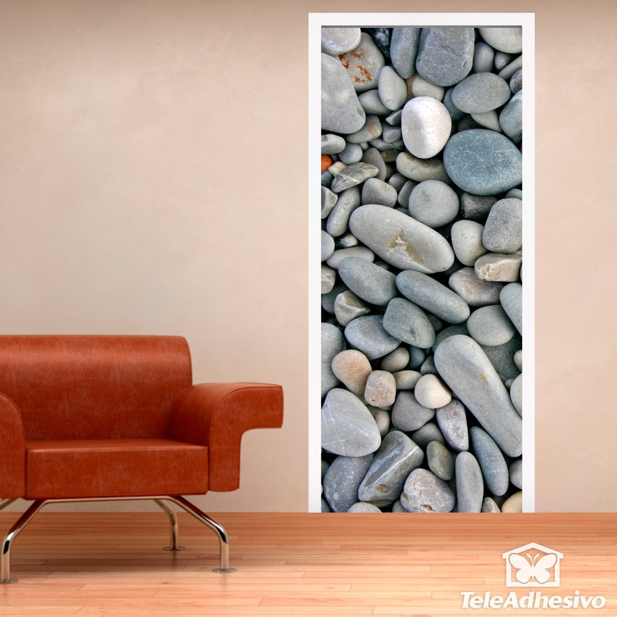 Wandtattoos: Tür abgerundete Steine
