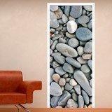 Wandtattoos: Tür abgerundete Steine 3