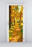 Wandtattoos: Tür pfad in einem Wald im Herbst 5