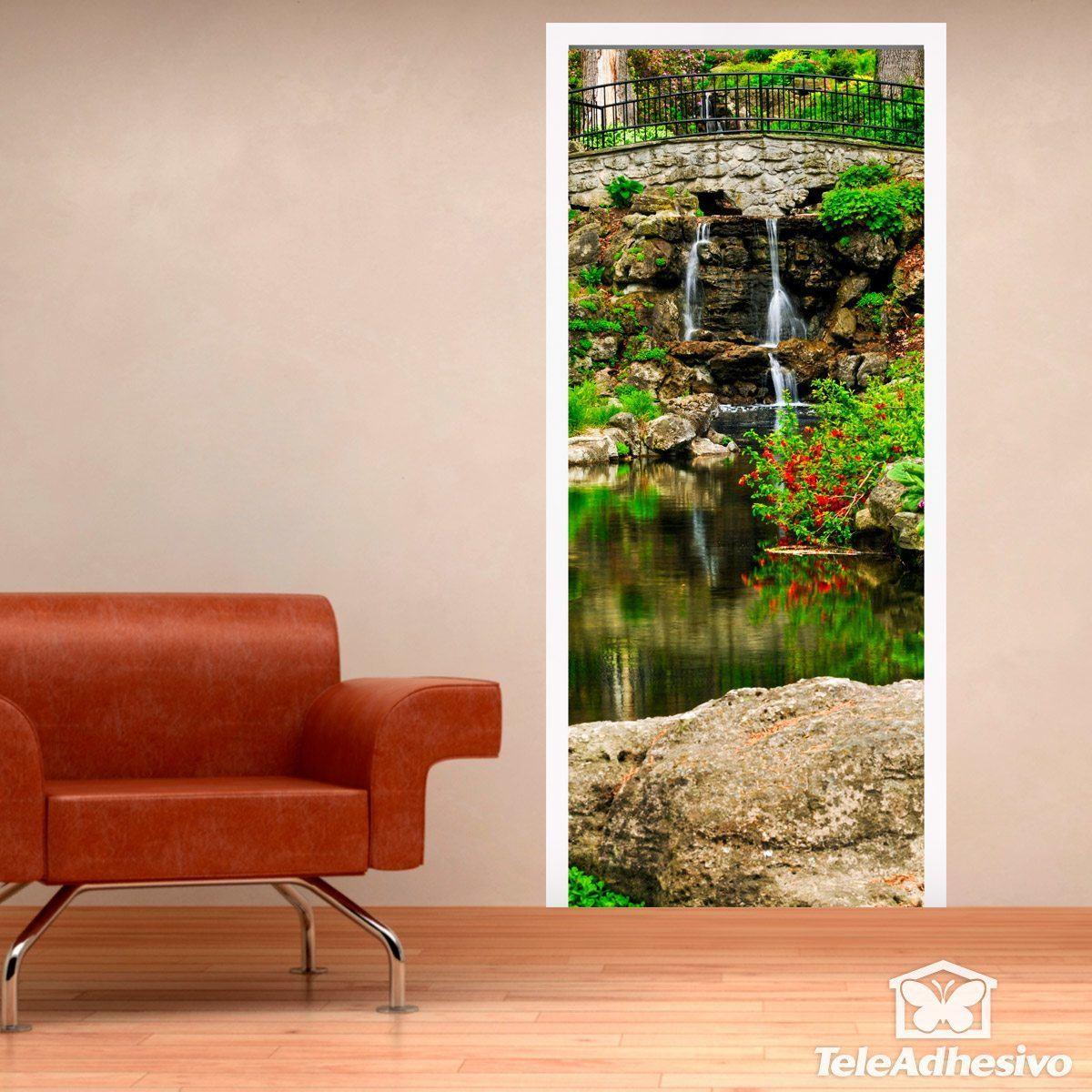 Wandtattoos: Tür Teich und Gärten