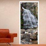 Wandtattoos: Tür Wasserfall und Steine 3