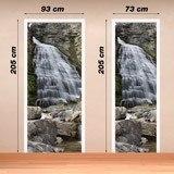 Wandtattoos: Tür Wasserfall und Steine 4