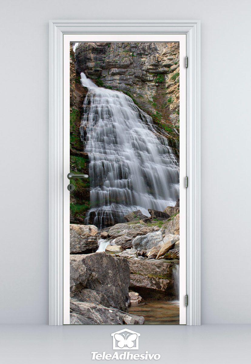 Wandtattoos: Tür Wasserfall und Steine