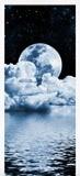 Wandtattoos: Tür Mond über Meer 6