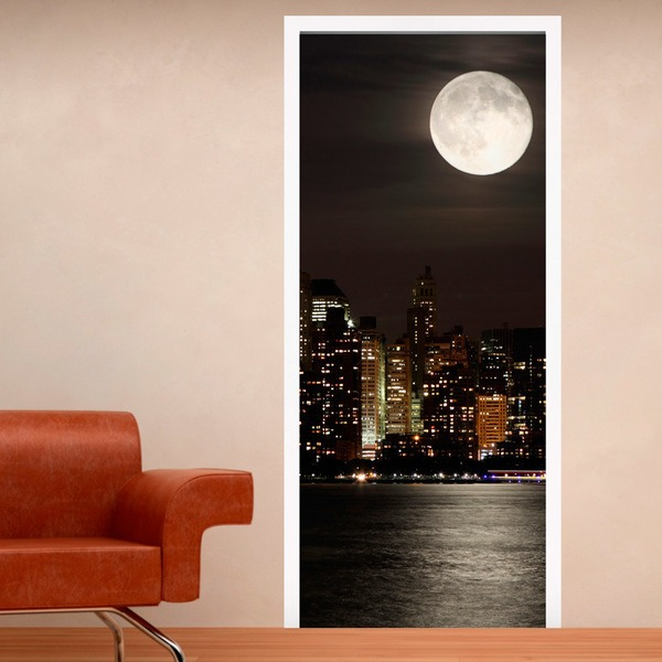 Wandtattoos: Tür Mond in Manhattan