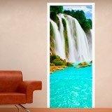 Wandtattoos: Tür Wasserfall  3