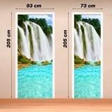 Wandtattoos: Tür Wasserfall  2