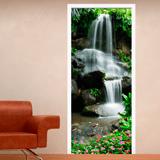 Wandtattoos: Tür Wasserfall und Steine 2 3