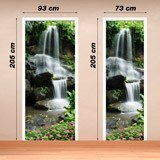 Wandtattoos: Tür Wasserfall und Steine 2 4