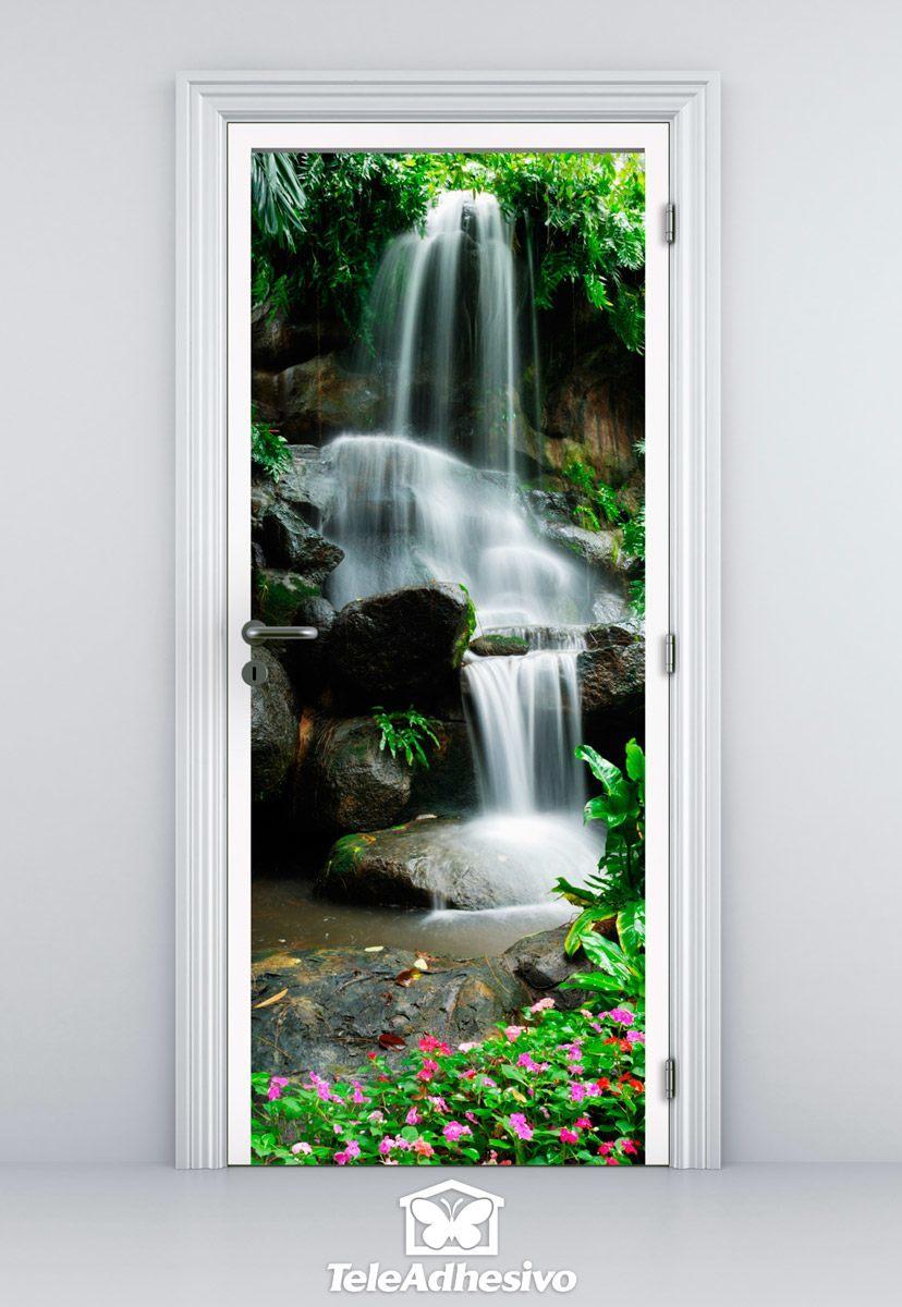 Wandtattoos: Tür Wasserfall und Steine 2