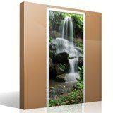 Wandtattoos: Tür Wasserfall und Steine 2 7
