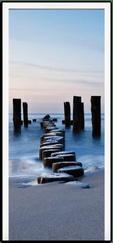 Wandtattoos: Türprotokollbrücke am Strand