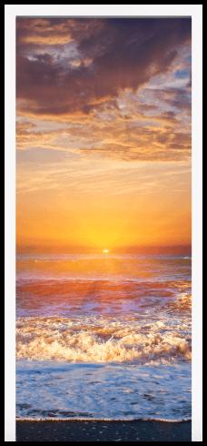 Wandtattoos: Tür Sonnenuntergang am Strand