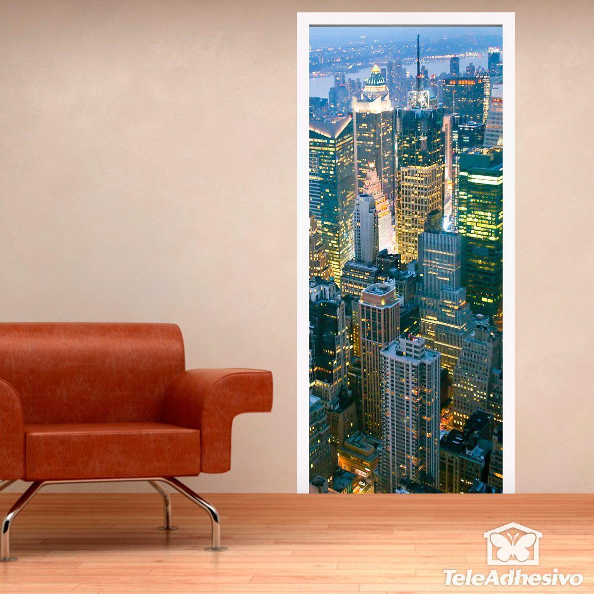 Bezaubernd Wandtattoo New York Referenz Von Wandtattoos: Tür Wolkenkratzer