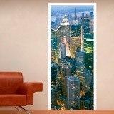 Wandtattoos: Tür New York Wolkenkratzer 1