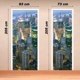 Wandtattoos: Tür New York Wolkenkratzer 2