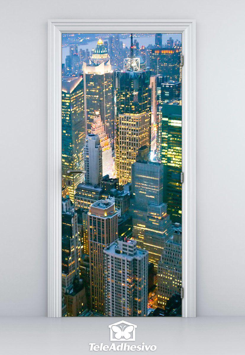 Wandtattoos: Tür New York Wolkenkratzer