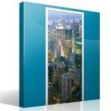 Wandtattoos: Tür New York Wolkenkratzer 5