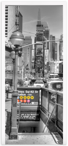 Wandtattoos: Tür NYC U-Bahn Eingang
