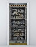 Wandtattoos: Sci Fi Tür Waffenkammer 5