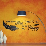 Wandtattoos: Take time to be happy 2