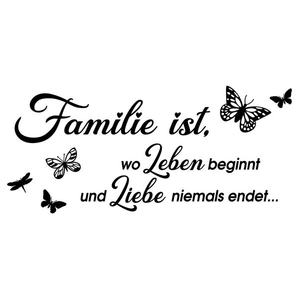 Zitate wandtattoo Familie ist, wo leben beginnt
