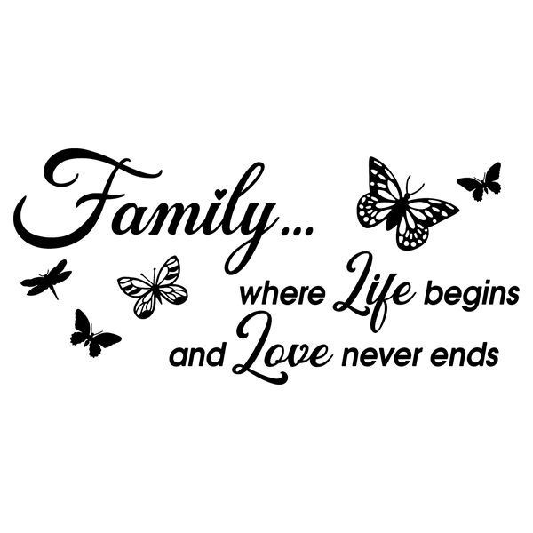 Wandtattoos: Family is where life begins