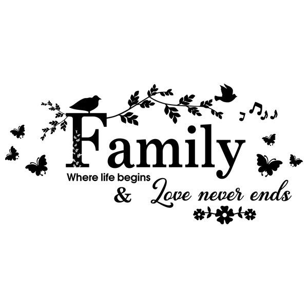Wandtattoos: Family, where life begins