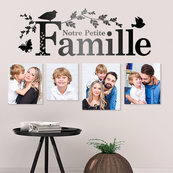 Wandtattoos: Notre famille