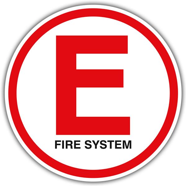 Aufkleber: E Fire System