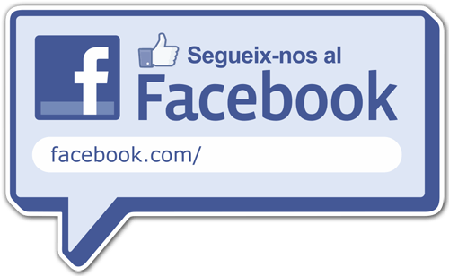 Wandtattoos: Segueix-nos al Facebook