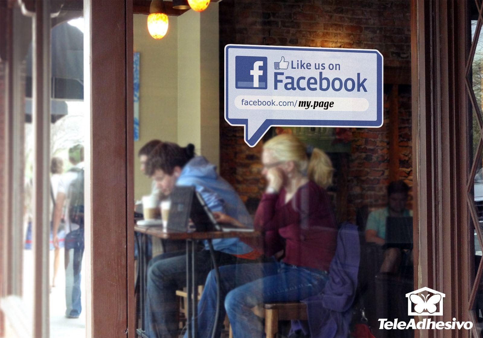 Wandtattoos: Like us on Facebook