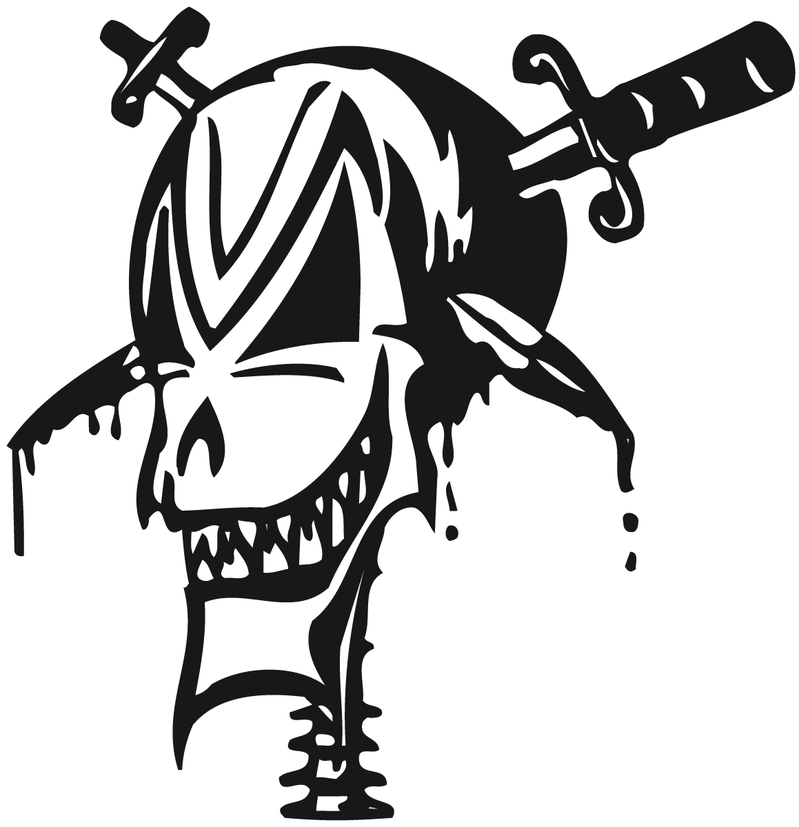 Aufkleber: skull13