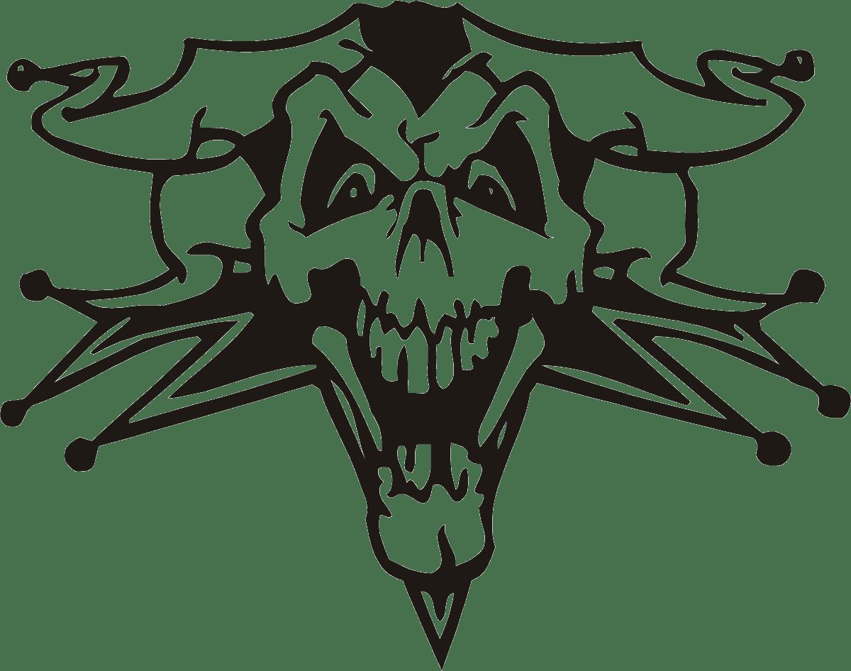 Aufkleber: skull18