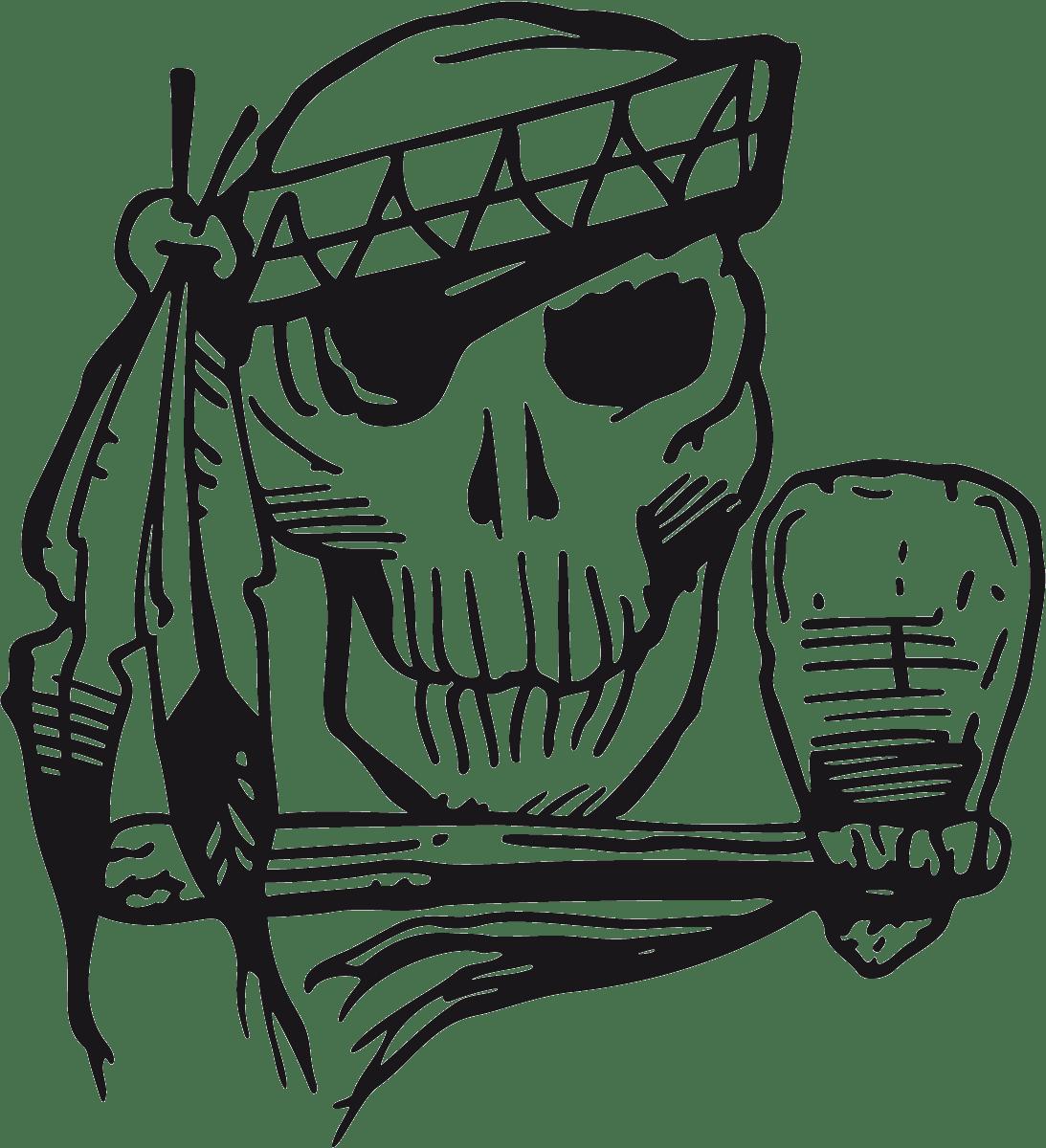 Aufkleber: skull26