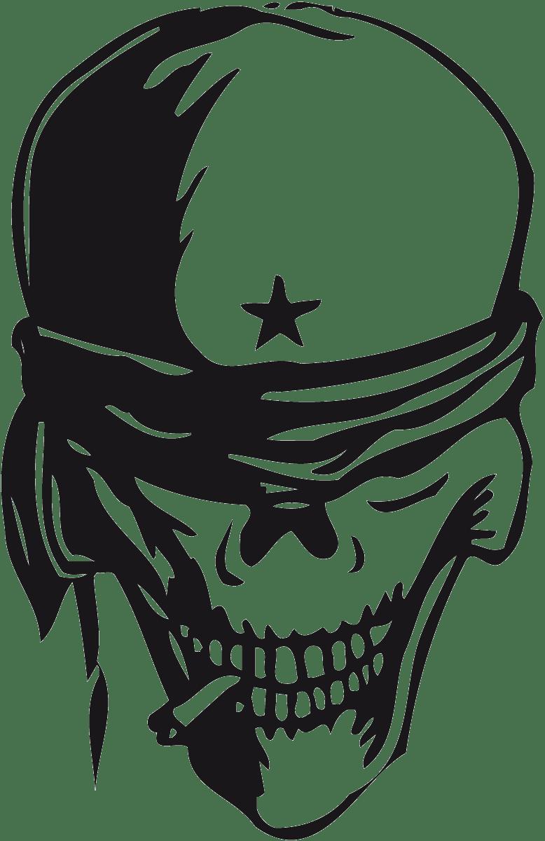 Aufkleber: skull32