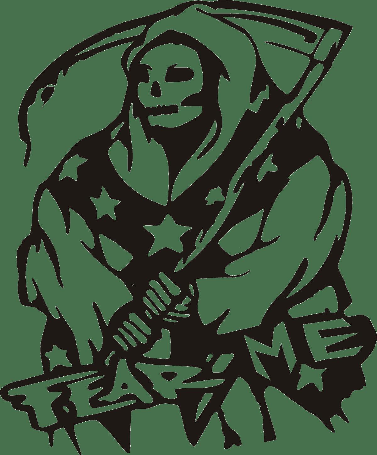 Aufkleber: skull34