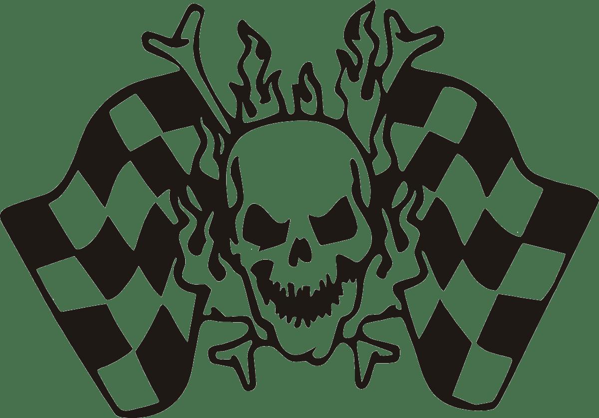 Aufkleber: skull40