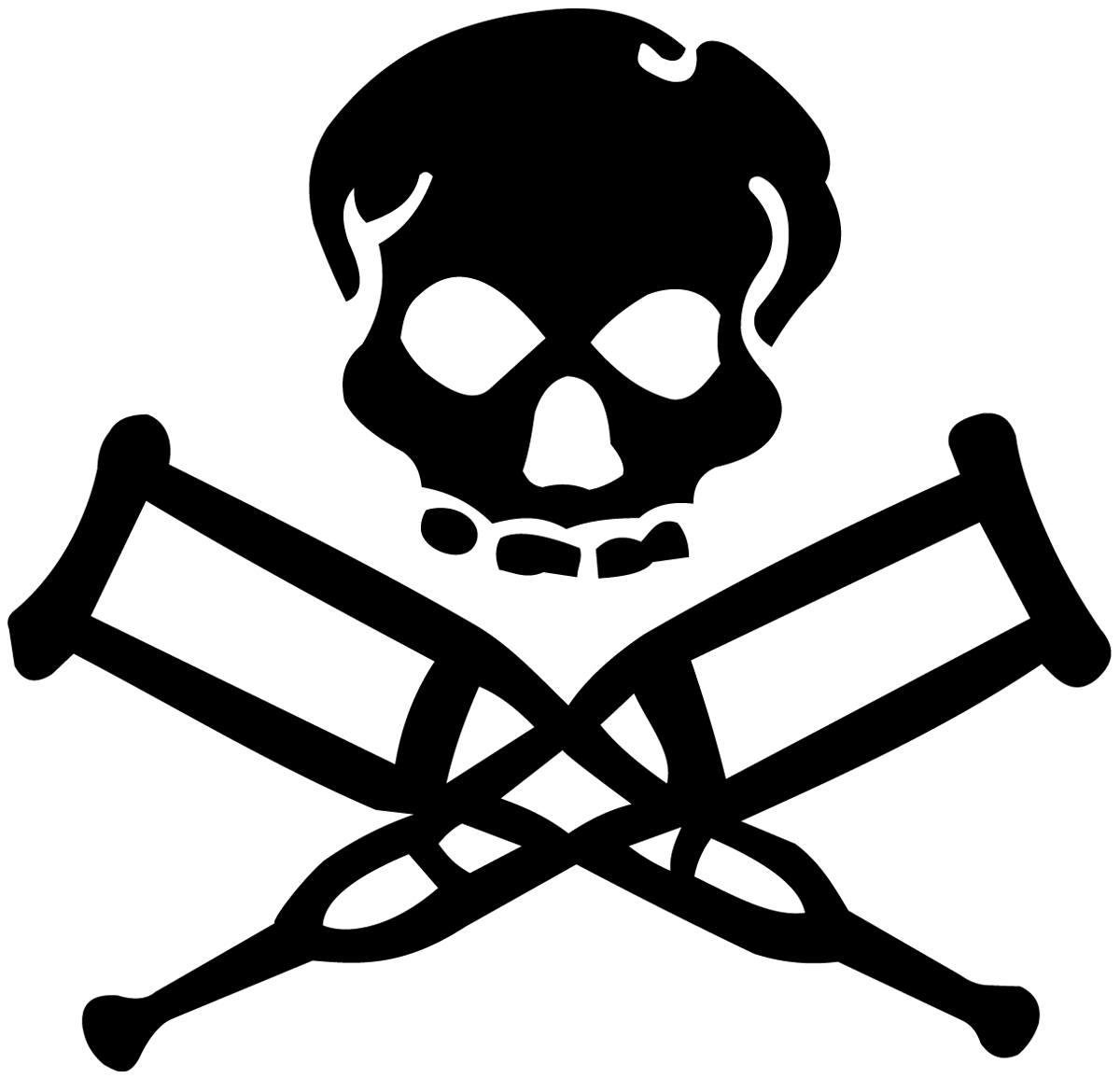Aufkleber: Skull Jackass