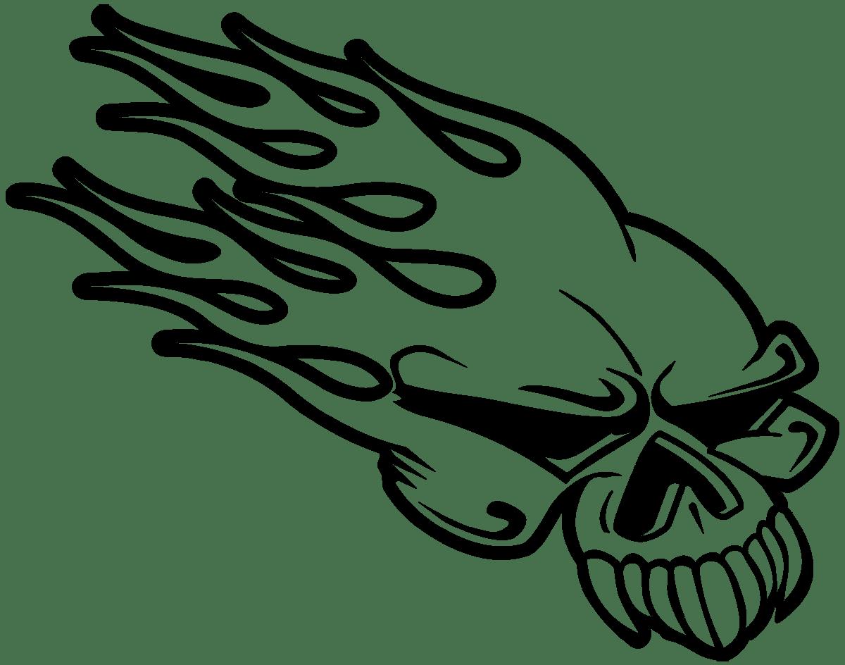 Aufkleber: Skull 68
