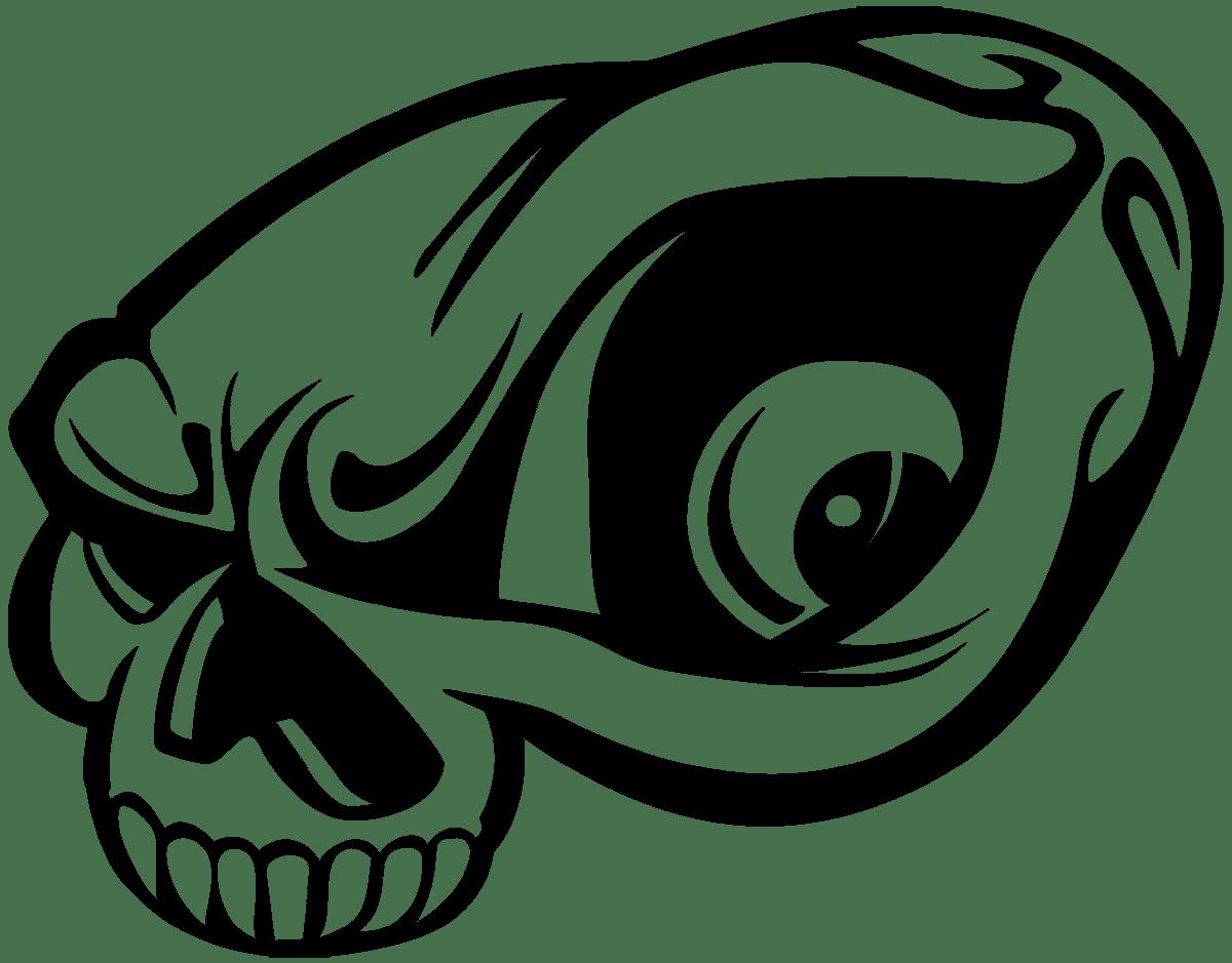 Aufkleber: Skull 71