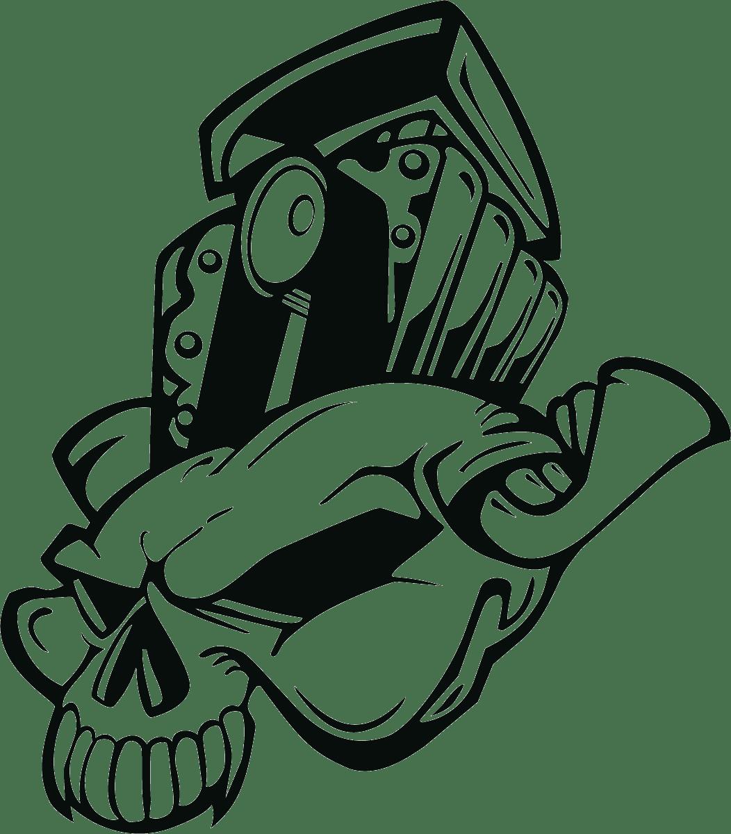 Aufkleber: Skull 72