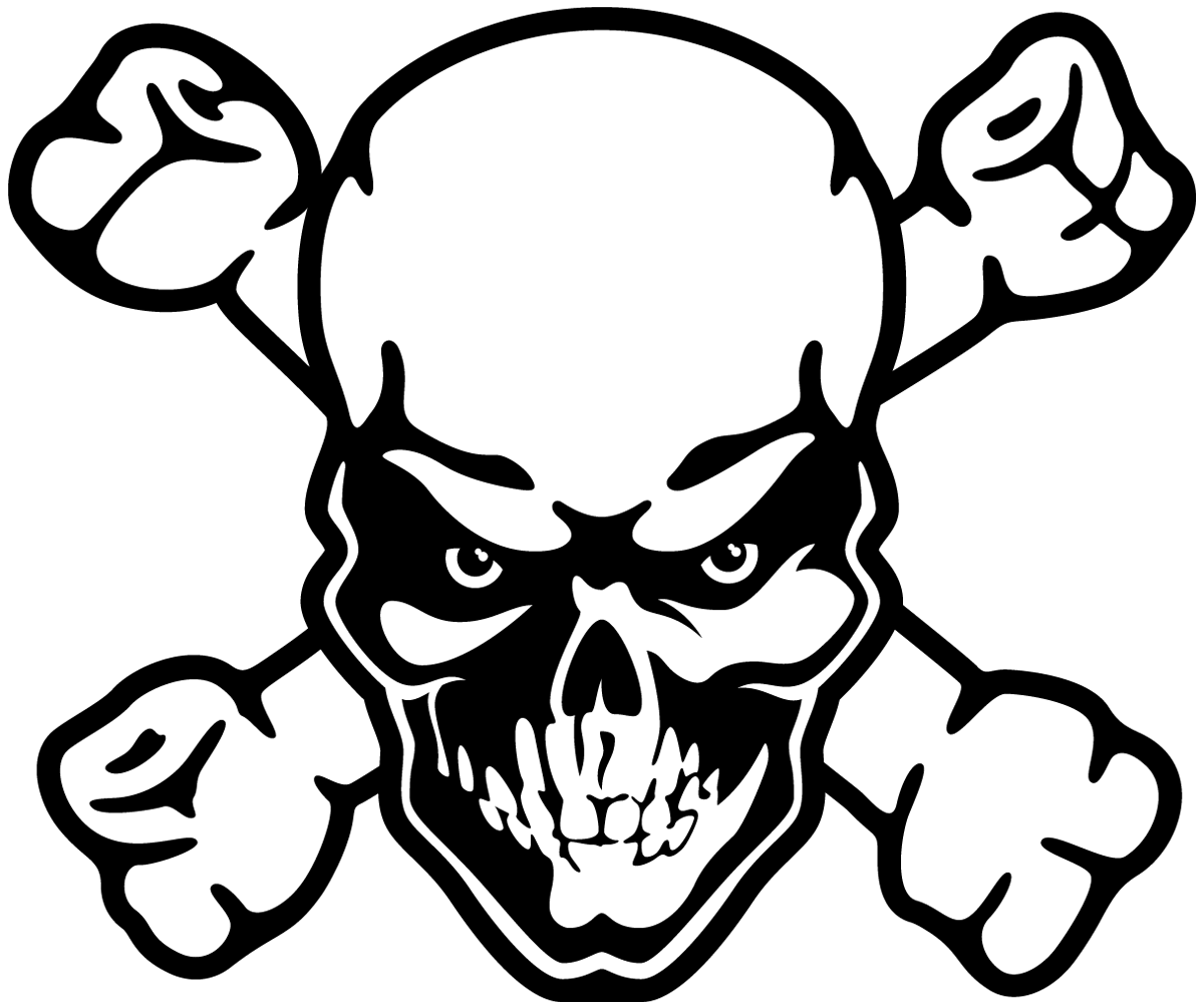 Aufkleber: Skull 75
