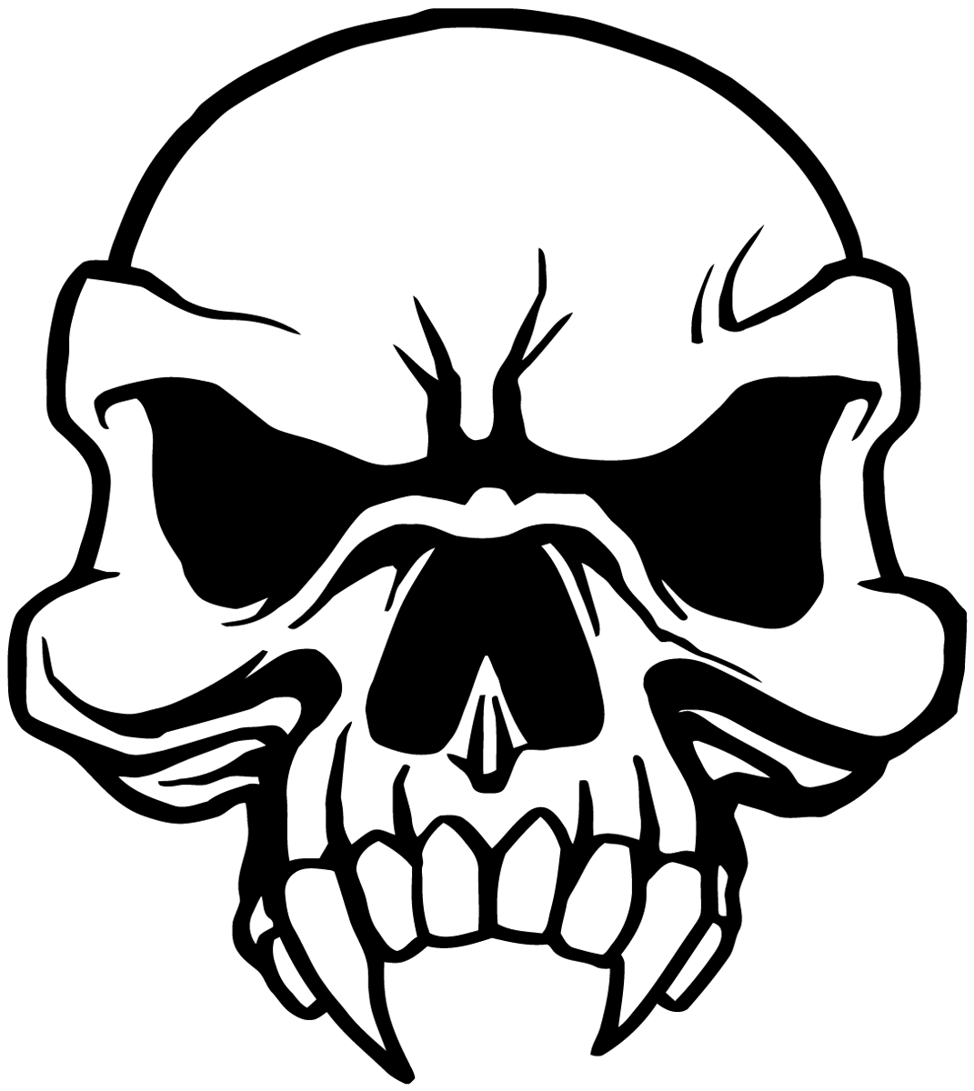 Aufkleber: Skull 80