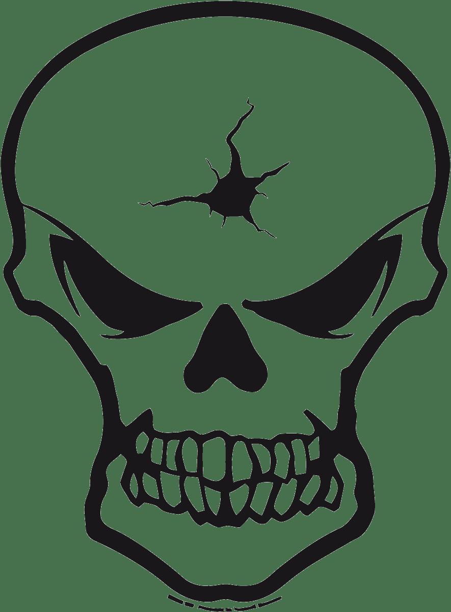 Aufkleber: Skull 86