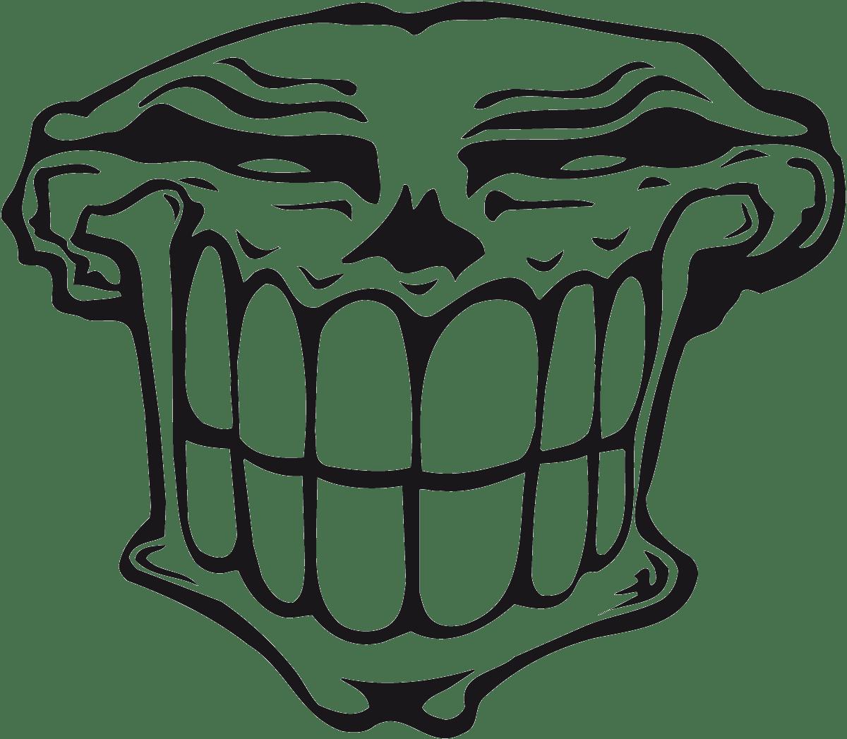 Aufkleber: Skull 89