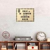 Wandtattoos: Estafeta Street sign 1