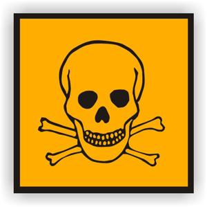 Aufkleber: Signal-Gefahr