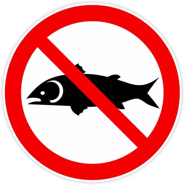 Fisch Aufkleber Verboten