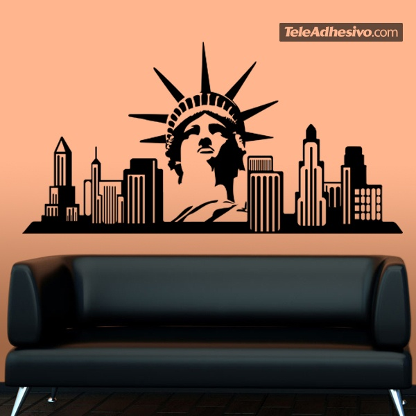 wandtattoos new york skyline. Black Bedroom Furniture Sets. Home Design Ideas